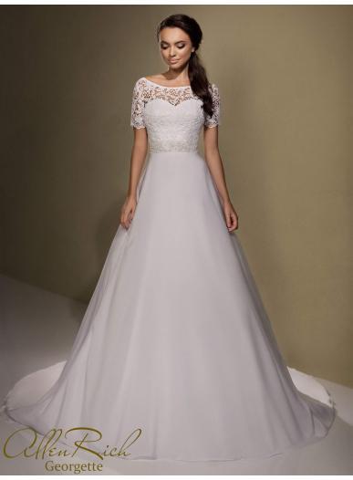 Wedding dress GEORGETTE white