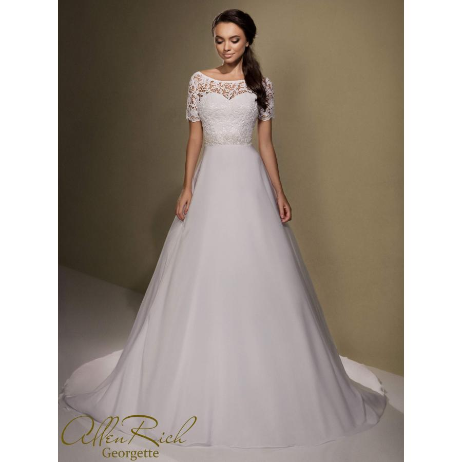 Wedding dress GEORGETTE white