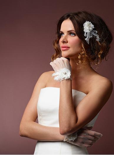 Krátké svatební rukavičky 7550