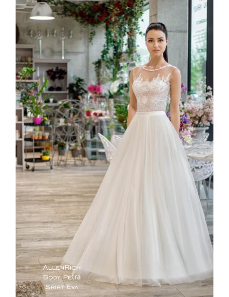 Svatební šaty Petra (body+sukně)