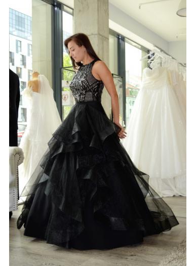 Wedding dress DEVILA (Body+skirt) black
