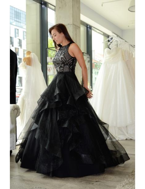 Evening dress DEVILA (Body+skirt) black